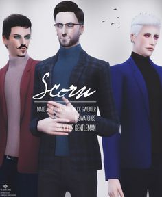Male jacket ands roll-neck sweater at Azentase via Sims 4 Updates Check more at http://sims4updates.net/clothing/male-jacket-ands-roll-neck-sweater-at-azentase/