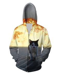d309903212b5 Alisister new fashion cat jacket sweatshirt for men women funny print  graphics jackets 3d hoodies Casual harajuku hooded tops