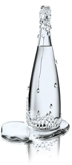 Evian Haute Couture Collection by Jean Paul Gaultier collaborate with Baccarat