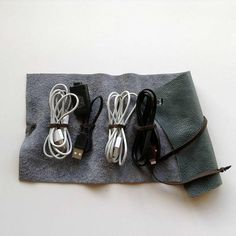 Your place to buy and sell all things handmade Cord Holder, Cord Organization, Stocking Fillers, Leather Accessories, Bud, Gifts For Him, Soft Leather, Phone, Brown