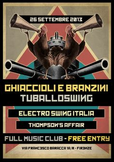 Electro Swing Italia Night - Settembre Electro Swing, Free Entry, Affair, Night, Music, Movie Posters, Italia, Musica, Musik