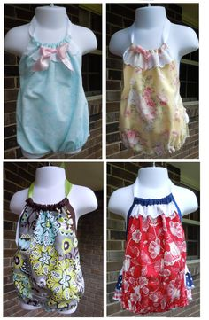 Romper / sun-suits for Easter, spring and summer