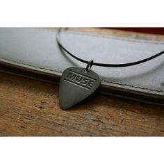 Etched Muse Band Copper Guitar Pick Necklace ($17) ❤ liked on Polyvore