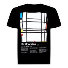 Mondrian black t-shirt
