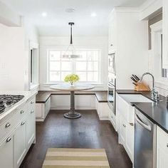 trendy kitchen layout - Transform Homely Decor Design - trendy kitchen layout trendy kitchen layout with island galley breakfast bars kitchen ideas ideas color ideas farmhouse ideas decoration - Open Galley Kitchen, Kitchen Island With Stove, Galley Kitchen Design, Small Galley Kitchens, Galley Kitchen Remodel, New Kitchen, Gally Kitchen, Open Kitchens, Kitchen Small