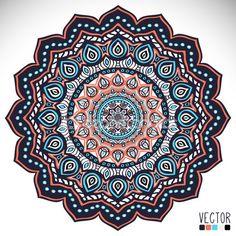 Mandala. padrão redondo. elementos decorativos vintage. Passe fundo desenhado. Islã, motivos de Otomano Indiana, árabe, — Ilustração de Stock #56878635