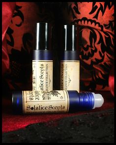 Master Bedroom Perfume Oil Solstice Scents: Soft Musk, Sandalwood EO, Amber, Clove EO, Myrrh EO, Vanilla, Aged Patchouli EO, Champaca Absolute & Aged Sandalwood Attar.  Halloween and Fall Collection 2012.