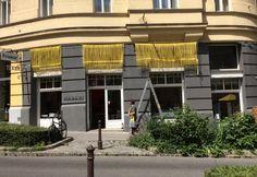 kollektiv plus zwei || design || facade for Habari || yellow eylashes || wrapping straps Kollektiv, Summer Breeze, Eyelashes, Facade, Street View, Warm, Design, Lashes, Facades