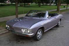 Chevrolet Corvair Purple - one of a kind only ordered in 1965. Sue Brown toted me around when I was nine and I was on top of the world. Fond memories of her and the purple beast.