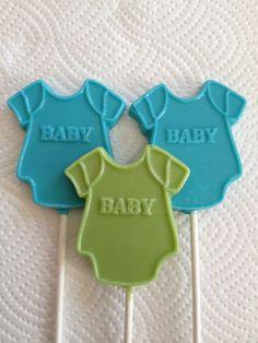 24 Boy Onesie Baby Shower Chocolate Lollipop Favors on Etsy, $36.00