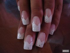 Bridal Nails That Will Rival The Ring Sparkle Nails, Fancy Nails, Pretty Nails, Get Nails, How To Do Nails, Hair And Nails, Bridal Nails, Wedding Nails, Romantic Nails