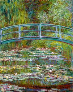 """Water Lily Pond with Japanese Bridge"" Claude Monet (1899)"