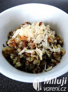 Medová pohanka s oříšky Oatmeal, Grains, Rice, Breakfast, Food, The Oatmeal, Morning Coffee, Meals, Yemek