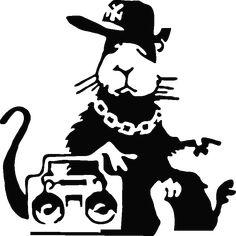 Muurstickers design - Muursticker muzikale rat | Ambiance-live.com