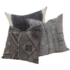 Indigo Pillows (set of 3) Collection Found Vintage Rentals ❤ liked on Polyvore featuring home, home decor, throw pillows, indigo throw pillows, patterned throw pillows, indigo home decor, indigo blue throw pillows and handmade home decor