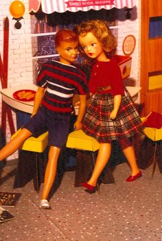 Vintage Ideal doll Tammy & her boyfriend (rare) Bud - Our Sindy Museum