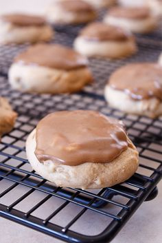 Maple Cookies with Maple Butter Glaze. Uses 1/2 cup sour cream and maple flavor.