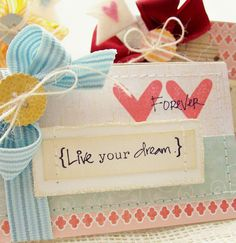 Live Your Dream Greeting Card by creativepapertrail on Etsy