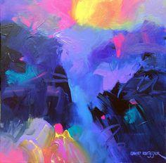 """Nocturne 2"" 24x24 Acrylic on CanvasDavid M. Kessler"