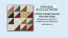 Great tips for half-square triangles and a free block pattern in this short video from Quiltmaker.