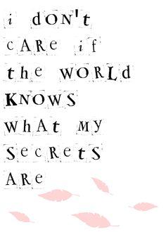 So-o-o-o-o what - Secrets - Mary Lambert