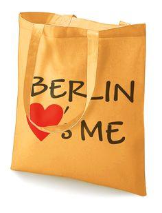 """Stoffbeutel """"Berlin loves me""""  von MAD IN BERLIN auf DaWanda.com"""