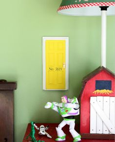 Tooth fairy tiny door personalized with address! It's a doll house door. Hang with velcro 3m strips. (Try Hobby Lobby)