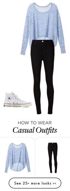 """Casual"" by volleyshark on Polyvore featuring Victoria's Secret, AG Adriano Goldschmied and Converse"