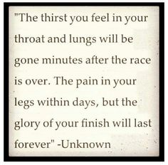 I love this quote! I will definitely keep it in mind during my training and running of my half #marathon :)