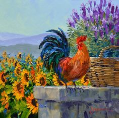 Original Oil Paintings by Mikki Senkarik. Please come into my studio and watch me paint. Beautiful Paintings, Beautiful Landscapes, Loro Animal, Pintura Exterior, Chicken Art, Pintura Country, Art For Art Sake, Oeuvre D'art, Amazing Art