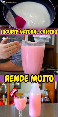 IOGURTE NATURAL CASEIRO – RENDE MUITO #iogurte #iogurtecaseiro #iogurtenatural #cozinha #receita #receitafacil #receitas #comida #food #manualdacozinha #aguanaboca #alexgranig