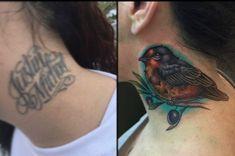 Cover up tattoo Cover Up Tattoos, Ear, Tatuajes, Tattoos Cover Up, Covering Tattoos