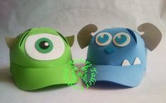 gorros divertidos para niños en goma eva - Cerca con Google Crazy Hat Day, Crazy Hats, Monsters Inc Baby, Mike From Monsters Inc, Monster Inc Birthday, Monster Party, Foam Crafts, Diy And Crafts, Crafts For Kids