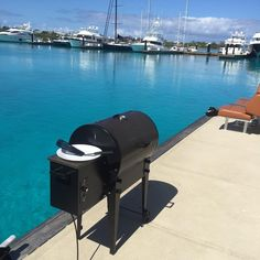 Smoking burgers for lunch on the #traeger grill @traegergrills Reposted Via @palmettofish