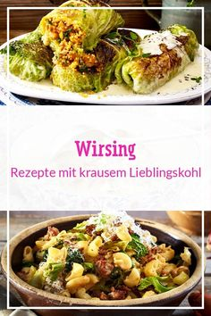 284 Wirsing-Rezepte hearty creamy or classic - Can be prepared in many Savoy Cabbage, Cooked Cabbage, Cooking Dishes, Vegetarian Appetizers, Cabbage Recipes, Different Recipes, Vegetable Dishes, Casserole Dishes, Yummy Food