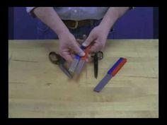 How to Sharpen Scissors - YouTube