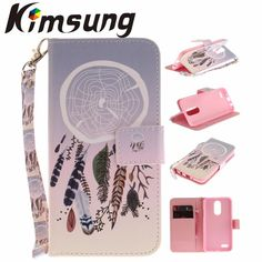 Flip Case For LG K4 2017 /LG K4 M160 /LG Phoenix 3 Leather + Silicone Wallet Cover For Coque LG Fortune Case Phone Fundas Capa