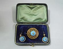 Antique 14k Gold Earrings and Pendant, English WWW.JJAMESAUCTIONS.COM