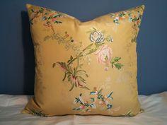 "Scalamandre ""Cerasella Gold"" Viscose Silk Damask Pillow | eBay"