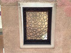 Industrial Burglar Bar Design - Venice, Italy. Would look good as bathroom bubbles
