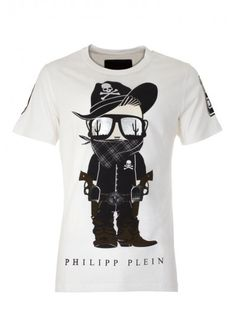 Philipp Plein | 'Bandit' T Shirt White | Mens T Shirt | BOUDI, 98 New Bond St. London W1S 1SN, United Kingdom | www.boudi.co.uk