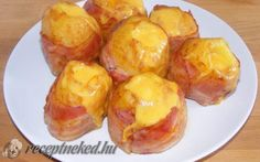 Láva burgonya recept fotóval Hungarian Recipes, Pretzel Bites, Potato Recipes, Cheddar, Baked Potato, Bacon, Paleo, Potatoes, Bread