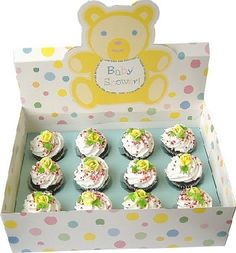 Baby Shower Bakery Box - Baby Shower Cup Cake Holder - Baby Shower Accessories - The Perfect Baby Shower - Everything to Throw the Perfect Baby Shower Baby Shower Party - Throw a Great baby shower