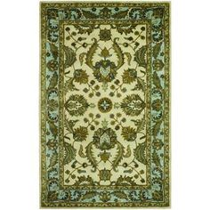 Castello Devon/ Ivory-Sky Blue Area Rug (8' x 10') | Overstock™ Shopping - Great Deals on COURISTAN INC 7x9 - 10x14 Rugs