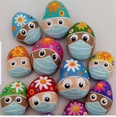 """""""Happy Easter to all my amazing colleagues working today and caring for our patients. Help them by staying at home today Rock Painting Patterns, Rock Painting Ideas Easy, Rock Painting Designs, Pebble Painting, Pebble Art, Stone Painting, Stone Crafts, Rock Crafts, Arts And Crafts"""