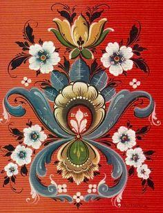 1000+ images about Folk Art on Pinterest   Norwegian rosemaling ...