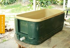 Before & After: A Dingy Old Cooler Gets a DIY Wooden Cover — DIY Projects
