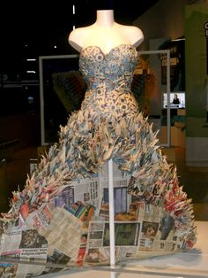 paper dress- i like the foldings which reminds me of feathers