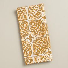 One of my favorite discoveries at WorldMarket.com: Harvest Gold Batik Leaf Napkins, Set of 4 *May use these to create some new sofa pillows!