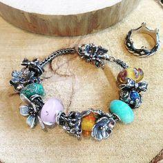 Браслет Trollbeads  #trollbeads #bracelet #beads #silver #murano #glass #stone #flower #Russia #Rostov
